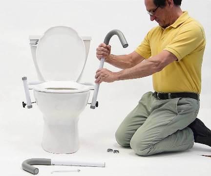 Toilet Safety Frame Installation