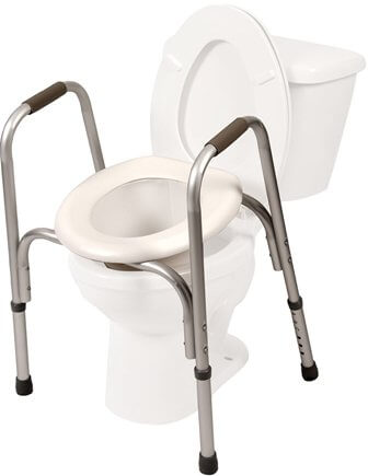 Raised Toilet Seat with Safety Frame