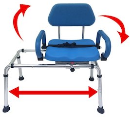 Carousel Sliding Transfer Bench with Swivel Seat