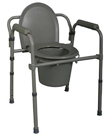 Medline 3-in-1 Steel Bedside Commode