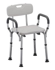 nova medical products deluxe bath seat with back u0026 arms