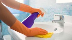 chemical hazard in the bathroom